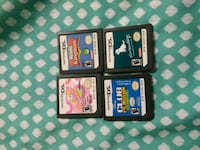 black Nintendo DS with game cartridges Temple City, 91780