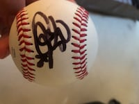 white and red baseball with signature Pawleys Island, 29585