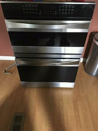 stainless steel and black 4-drawer chest Brighton