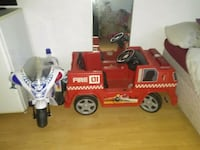 red and white RC toy car