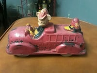 Antique mickey and daddy rubber fire truck 1930 Parkville, 21234