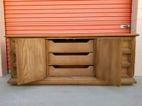 brown wooden single drawer side table Huntington Beach, 92647