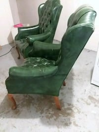 green and brown wooden armchair Florissant