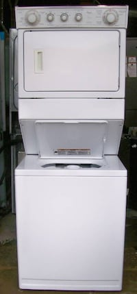 Whirlpool  Large Capacity Stacked Washer Dryer, 1 year warranty