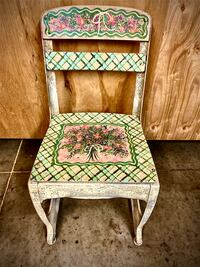 VTG Child's Hand-Painted Desk Chair or Plant Stand!