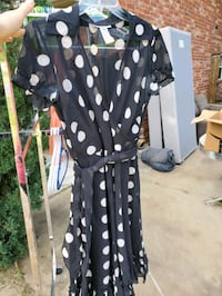 Sandra Daren Black Polka Dot Dress