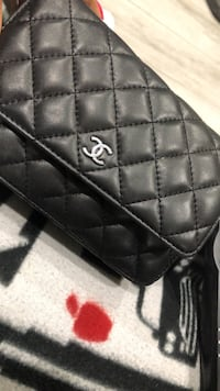 black leather Coach monogram handbag Rockville, 20853