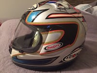 Silver orange and black fog city full face helmet 33 km