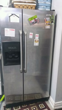 stainless steel side by side refrigerator with dispenser Brampton, L6R 1B7