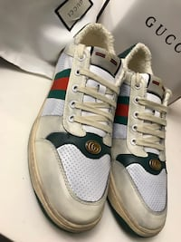 Preowned Gucci Screener Sneakers Men size 10 in great condition Silver Spring, 20904