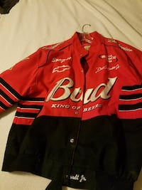 red and black Budweiser racing jacket Waldorf, 20601