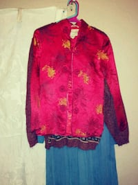 red and black floral button-up jacket San Antonio, 78211