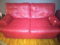red leather 2-seat sofa Rogersville, 37857