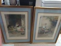 "2 old style large framed prints 21x29"" Sarnia, N7T 5N7"