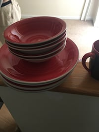 red and black ceramic plates Frederick, 21702