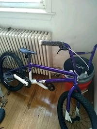 purple and black BMX bike 48 km