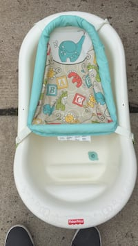baby's white and blue bather Chantilly, 20151