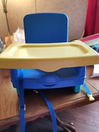 baby's blue and yellow plastic chair Lizella, 31052