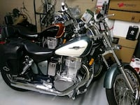 black and white touring motorcycle Davenport, 33897