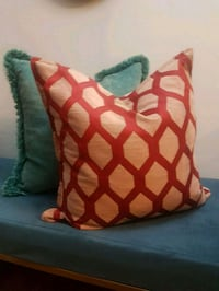Down-filled throw cushions for couch or bed