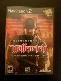 Return to Castle Wolfenstein for PS2  Vaughan, L4L