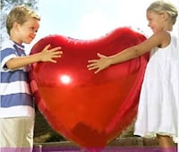 """36"""" & 24"""" Giant Jumbo Heart Foil Balloons - 2 Pieces (Red) Hacienda Heights, 91745"""