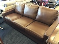 New Brown Leather Sofa