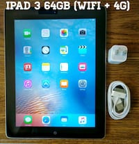 Ipad 3 UNLOCKED 64GB (WiFi + 4G Cellular) 9.7 inch 37 km