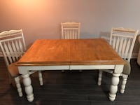 rectangular brown wooden table with four chairs dining set Vaughan, L4L 1H9