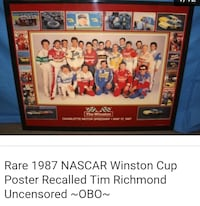 Nascars 1987 Rare winston cup poster