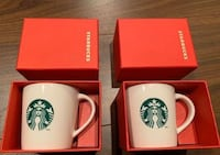 Starbucks mini mugs , espresso , great holiday gift!