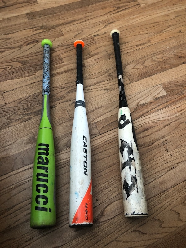 Used Marucci and Easton Mako Big barrel baseball bats for