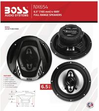 BOSS Audio NX654 Onyx 400-Watt 4-Way Auto 6.5-Inch Coaxial Speakers Toronto
