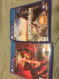 Two sony ps4 games  Salt Lake City, 84116