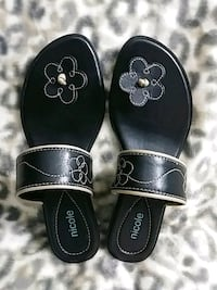 BLACK LEATHER SANDALS - SZ 6.5 - MADE IN BRAZIL Omaha, 68114