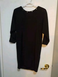 black scoop-neck long-sleeved dress Toronto, M9V 5E3