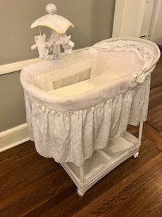 White Baby Bassinet gently used