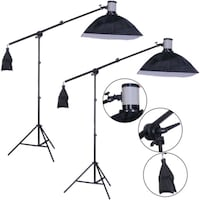 320W Photography Strobe Lighting Ki t 2X160W Rockville