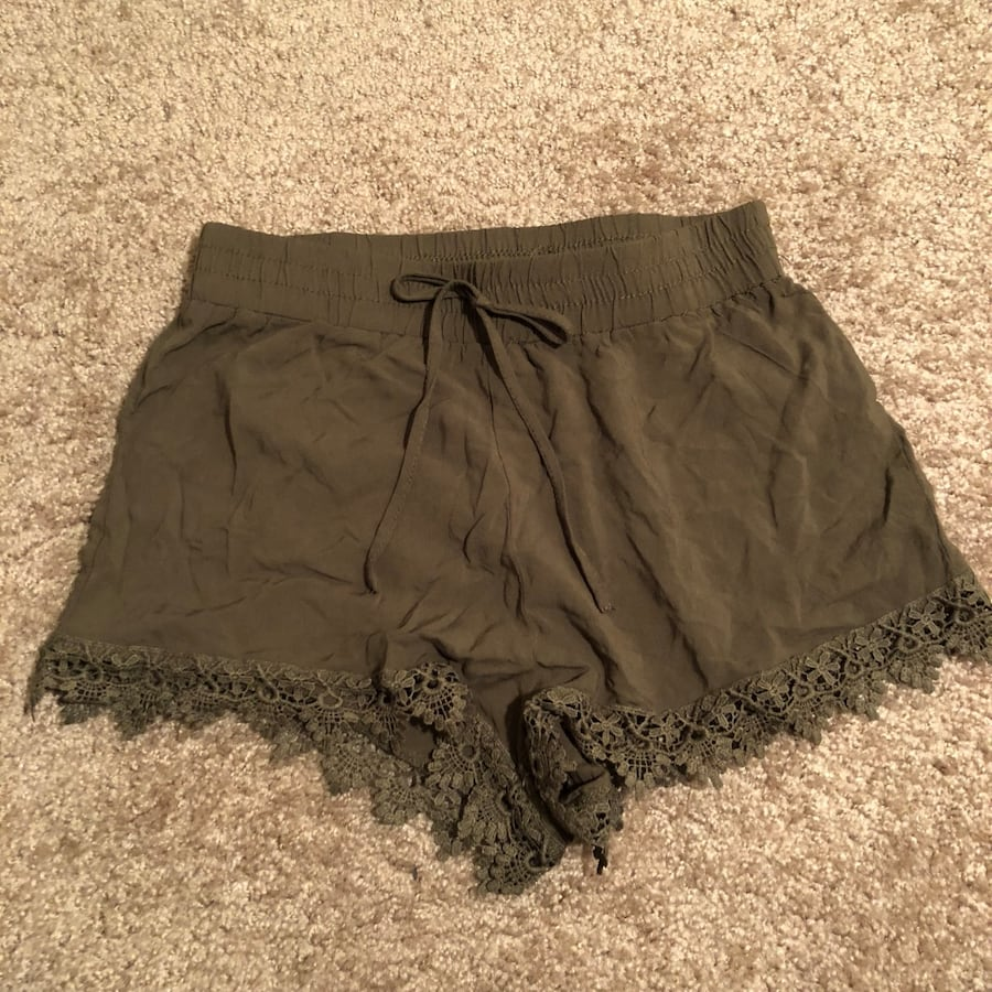 Women's olive green shorts