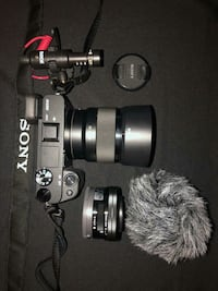 black Sony A 6300 DSLR 4K camera with bag Metairie
