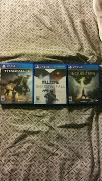 three Sony PS4 game cases Temple Hills