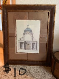 black wooden framed painting of Eiffel tower Tampa, 33619