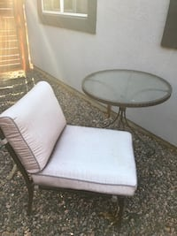 Outdoor glass table and chair Denver, 80210
