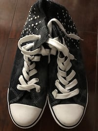 Dorothy Perkins Union Jack Studded Black High Top Sneakers Toronto, M3H 2S9