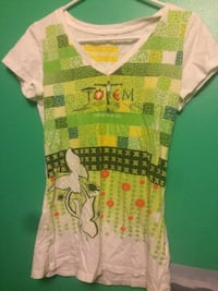 White and green totem shirt