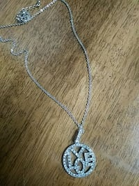 silver chain necklace with heart pendant Stratford, 74872