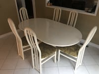 Dining Table - Solid wood white lacquer + 8 solid wood chairs Markham, L3P 5C3