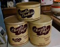 Antique Charles Chips Cookie tins Williamsburg