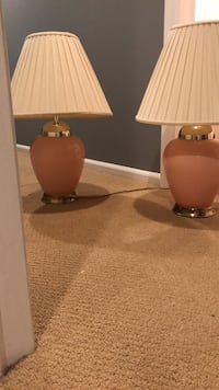 brown and white table lamp Manalapan, 07726