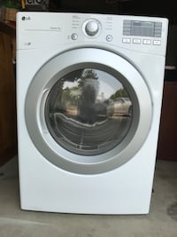 white LG front-load clothes washer Sunnyvale, 94087